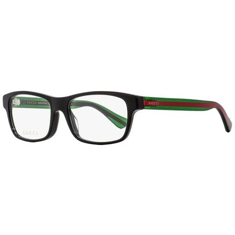 Gucci GG0006OA 002 Mens Black/Green/Red 55 mm Eyeglasses