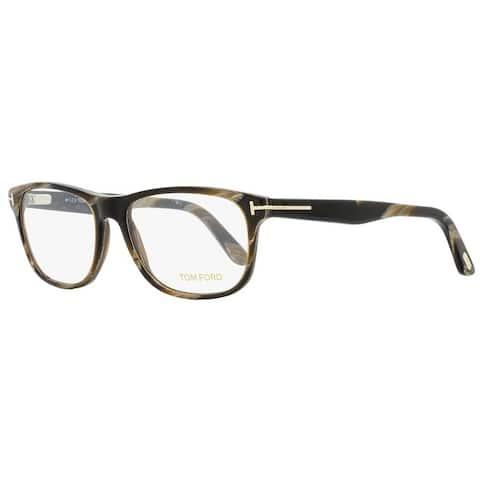 Tom Ford TF5430 062 Mens Brown Horn 56 mm Eyeglasses - Brown Horn