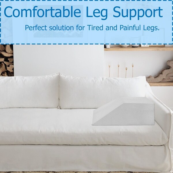 Elevating Leg Memory Foam Wedge Pillow Back Knee Bed Support Sleeping Cushion AA