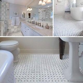 "Carrara Marble Mosaic Decorative Backsplash Tile, 12""x 12""x 0.38""/pc"