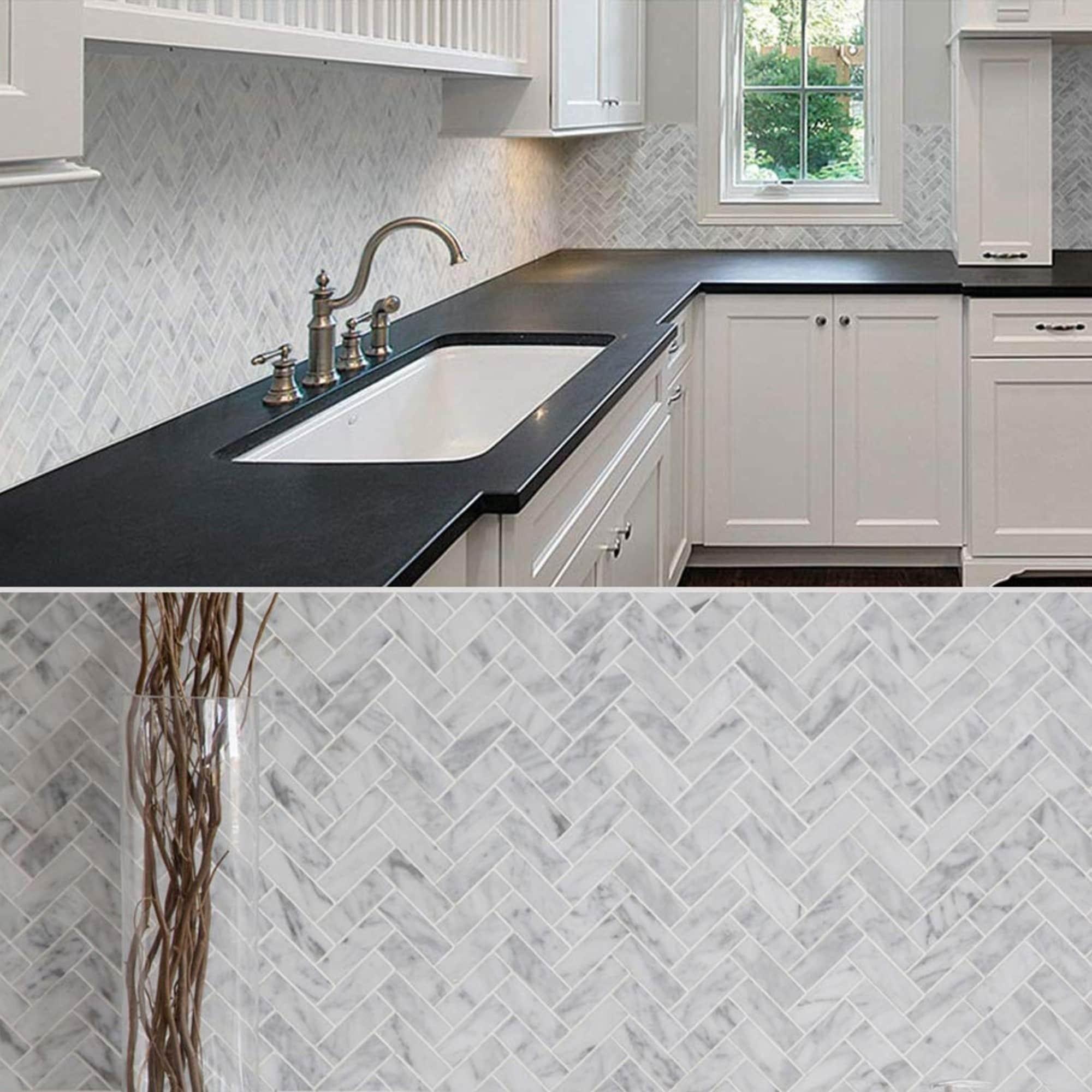 Carrara Marble Mosaic Decorative