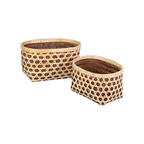 East at Main Novah Patterned Woven Basket - Set of 2