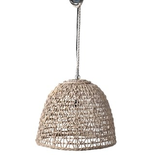 "East at Main Ensley Open Weave woven Pendant - White Wash - 20x20x17 - 20"" x 20"" x 17"""