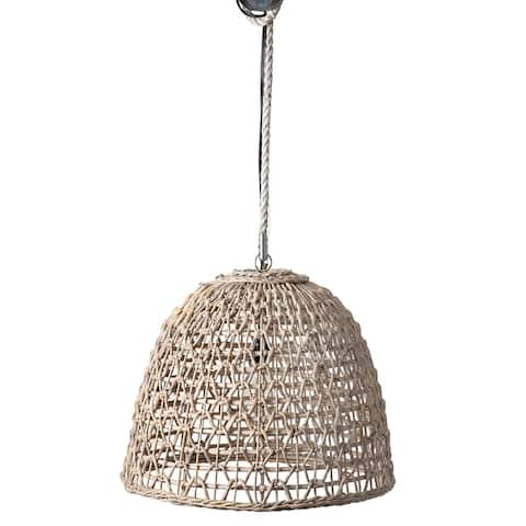 """East at Main Ensley Open Weave woven Pendant - White Wash - 20x20x17 - 20"""" x 20"""" x 17"""""""