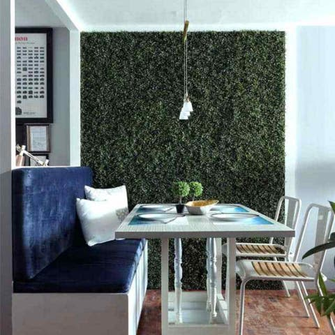 """Artificial Boxwood Tile With Installable Back Board,20""""x 20""""/pc"""