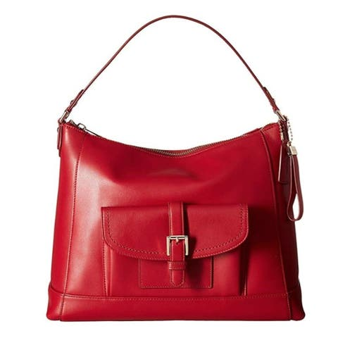 COACH 57133 Charlie Leather Hobo Red