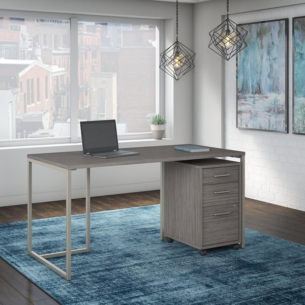 Method 60W Table Desk with File Cabinet from Office by kathy ireland®