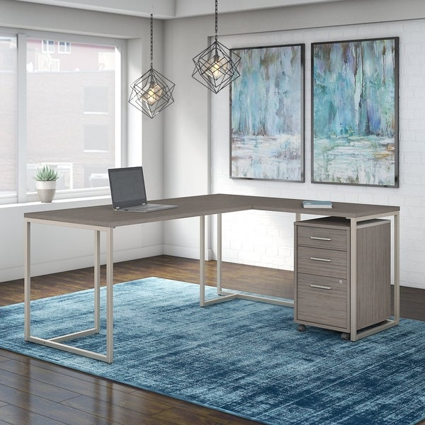 Method 72W L Shaped Desk with Drawers from Office by kathy ireland®
