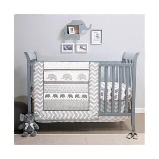 PSP Elephant Walk 3-Piece Crib Bedding Set