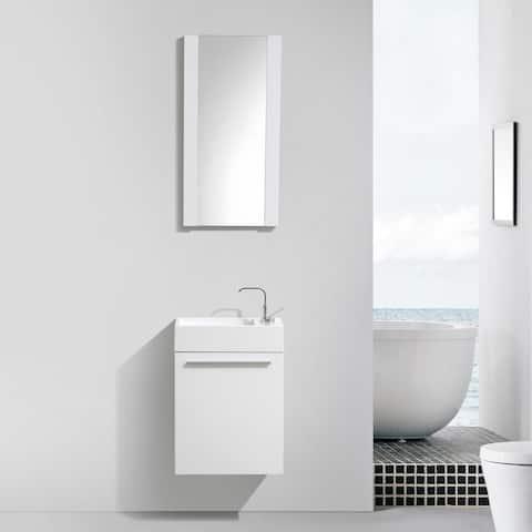 "18"" Floating Vanity / Wall Hung Vanity Set with Acrylic Sink"