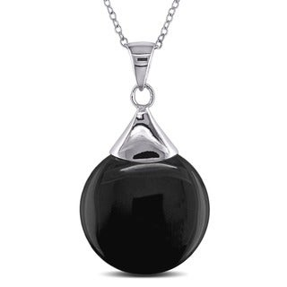 Miadora Sterling Silver Black Onyx Necklace