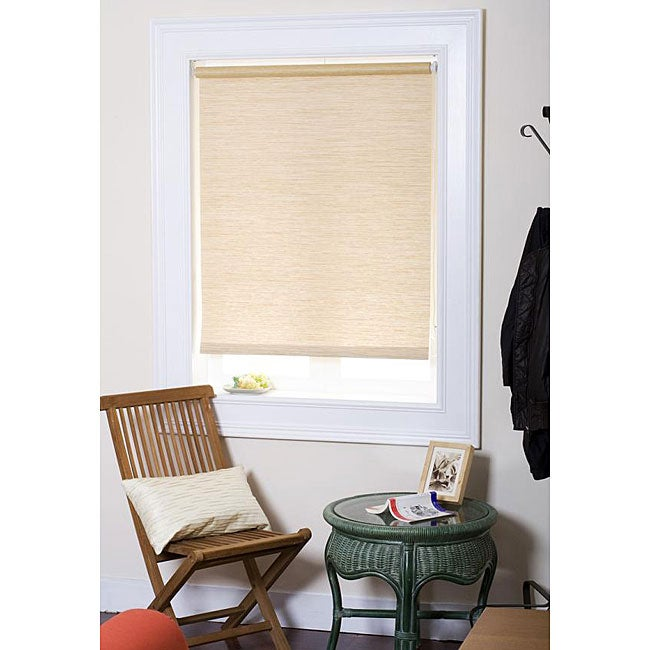 Chicology Natural-woven Cream Roller Shade (27 in. x 72 in.)