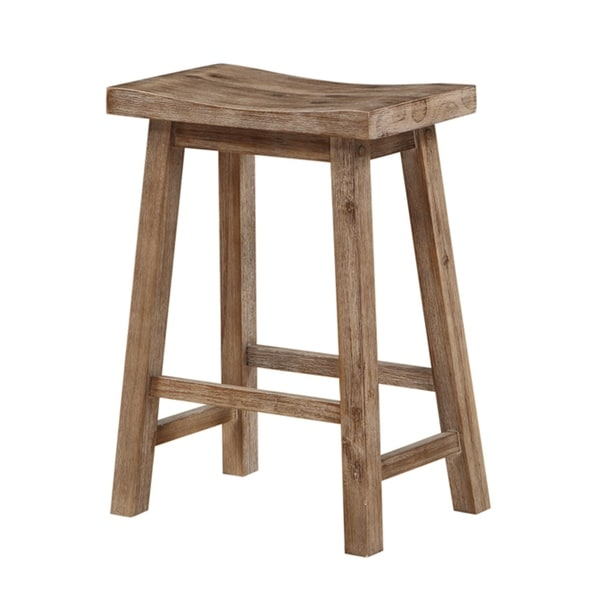 Wooden Frame Saddle Seat Counter Height Stool with Angled Legs, Gray. Opens flyout.