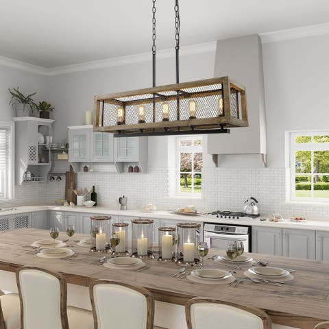"Modern Farmhouse Kitchen Island Chandeliers Pendants for Dining Room - L31.5""xW10""xH10"""