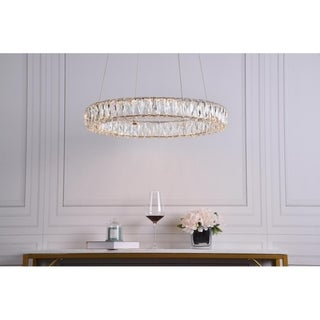 Link to Integrated LED chip light gold Chandelier Similar Items in Chandeliers
