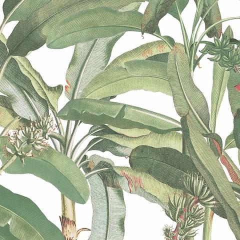 Polynesian Leaves Wallpaper