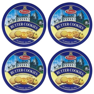Link to Bettino Butter Cookies - Traditional Danish Recipe with Keepsake Tin - 16 oz - 4 PACK Similar Items in Gourmet Food Baskets