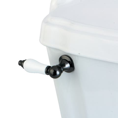 Water Onyx Toilet Tank Lever in Black Stainless Steel