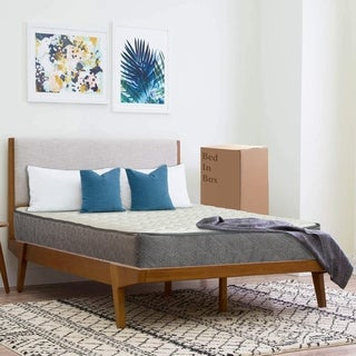 """10"""" Pocketed Coil Rolled Medium Plush Mattress with Cover for Adjustable Bed"""