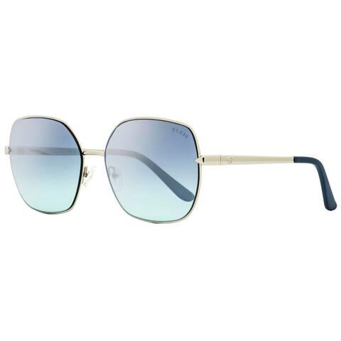 Guess GU7560 10X Mens Palladium/Aqua 61 mm Sunglasses