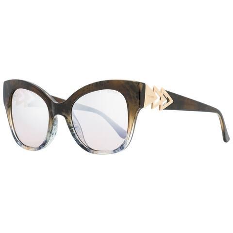 Guess GU7596 55G Mens Brown/Gray Melange 52 mm Sunglasses - Brown/Gray Melange - Brown/Gray Melange