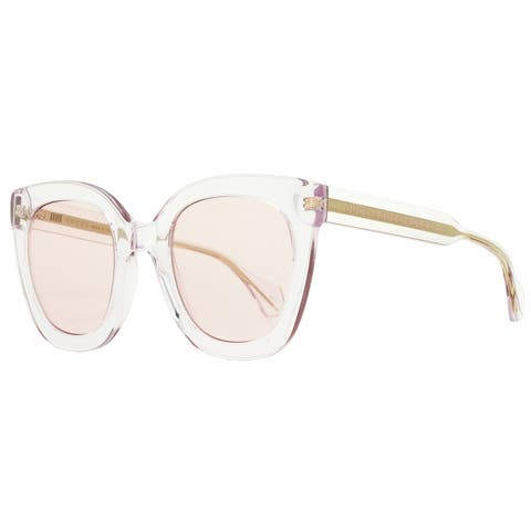 Gucci GG0564S 005 Mens Transparent Pink/Gold 51 mm Sunglasses - Transparent Pink/Gold - Transparent Pink/Gold