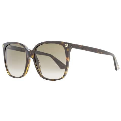 Gucci GG0022S 003 Womens Havana 57 mm Sunglasses
