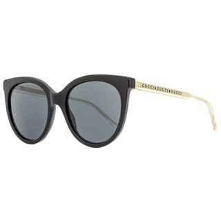 Link to Gucci GG0565S 001 Mens Black/Clear/Gold 54 mm Sunglasses Similar Items in Women's Sunglasses