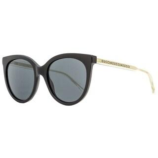 Gucci GG0565S 001 Mens Black/Clear/Gold 54 mm Sunglasses