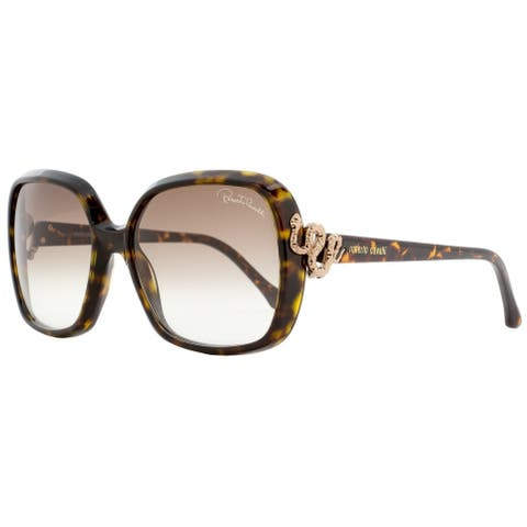 Roberto Cavalli RC1016 Yildun 52F Mens Dark Havana 58 mm Sunglasses - Dark Havana