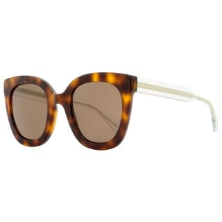 Link to Gucci GG0564S 002 Mens Havana/Clear/Gold 51 mm Sunglasses Similar Items in Women's Sunglasses