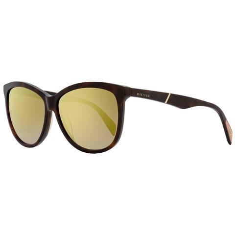 Diesel DL0221 52G Mens Dark Havana 59 mm Sunglasses - Dark Havana