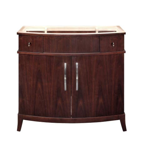 Alexandra Collection 38 inch Wood Vanity in Dark Walnut