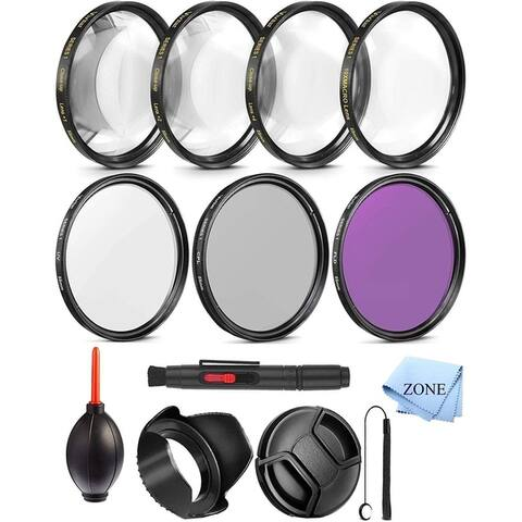 55mm Close-Up Filter Set (+1, 2, 4 and +10 Diopters) Magnificatoin Kit for Select Canon, Nikon, Sony, FujiFilm,...