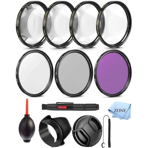 67MM Professional UV CPL FLD Lens Filter and Close-Up Macro Accessory Kit for Lenses with a 67mm Filter Size +...