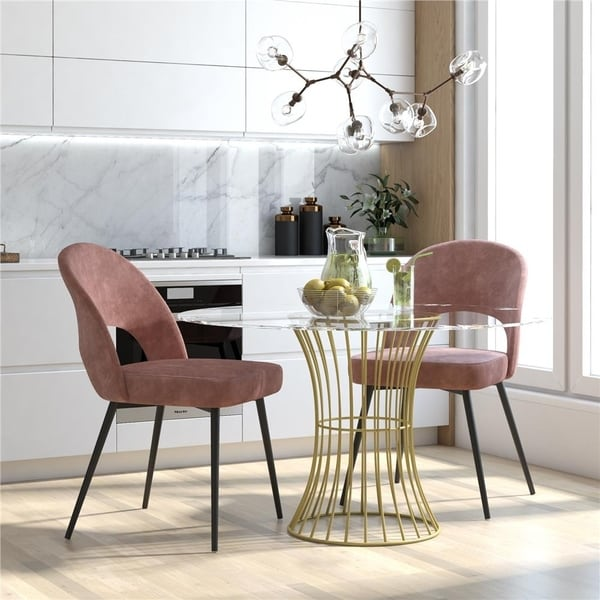 CosmoLiving by Cosmopolitan Alexi Upholstered Dining Chair. Opens flyout.