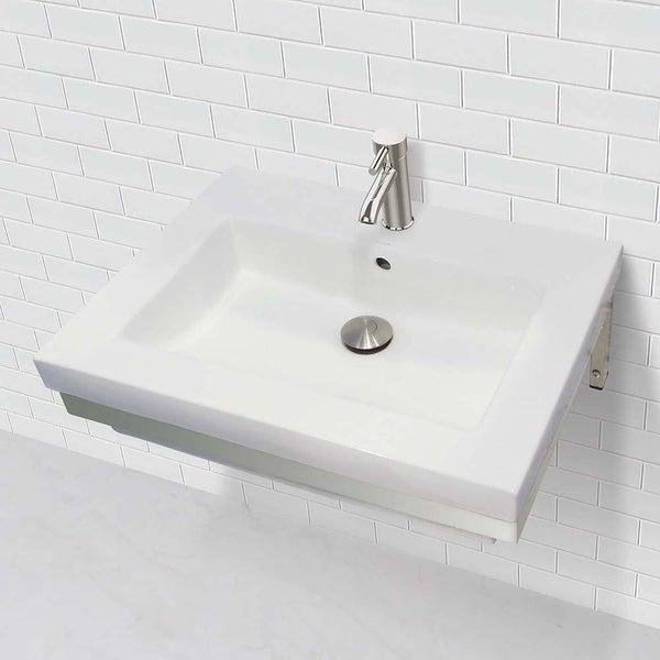 Shop Lilac Wall Mount Rectangular Bathroom Sink with ...