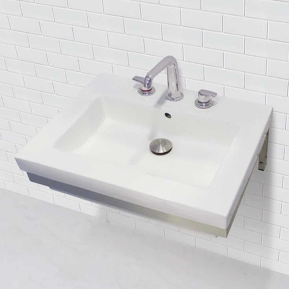 Wall Mount Rectangular Bathroom Sink