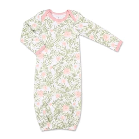 The Peanutshell Tropical Girl Floral Print Sleep Gown-One Size