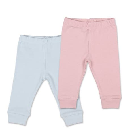 The Peanutshell Tiny Blooms 2Pk Pants, Pink and Blue-9M
