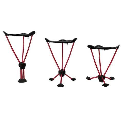 Travel Chair Adjustable 3-in-1 Slacker Stool in Black