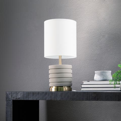 Carson Carrington Home Fortezzi Transitional Gray Stone Table Lamp