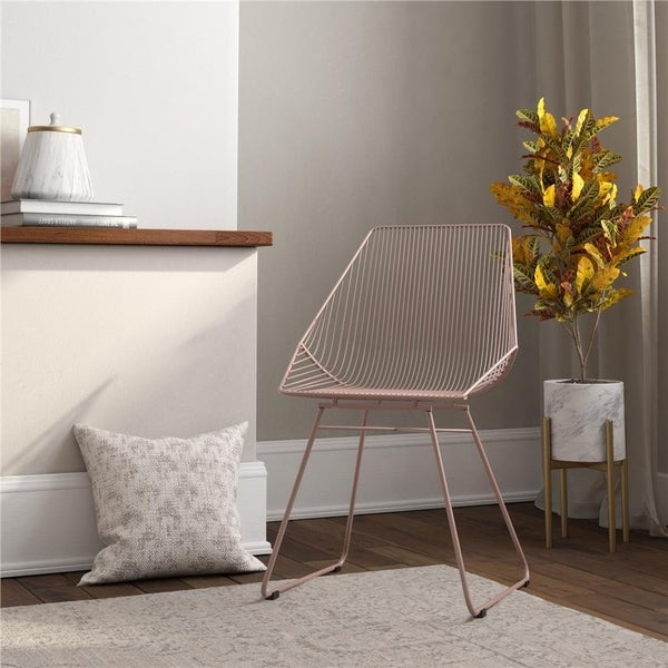 CosmoLiving by Cosmopolitan Ellis Modern Metal Accent Chair. Opens flyout.