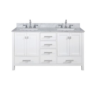 "Valentino 60"" Single Vanity in White"