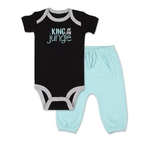 The Peanutshell Safari Story King of Jungle Shirt and Pant Set-NB