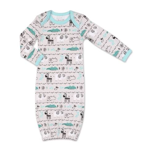 The Peanutshell Safari Story Animal Print Sleep Gown-One Size