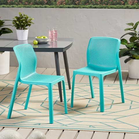 "Labaron Outdoor Modern Stacking Dining Chair by Christopher Knight Home - 19.00"" W x 22.75"" L x 32.75"" H"