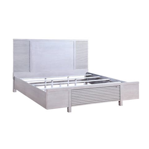 ACME Aromas California King Bed with Storage in White Oak