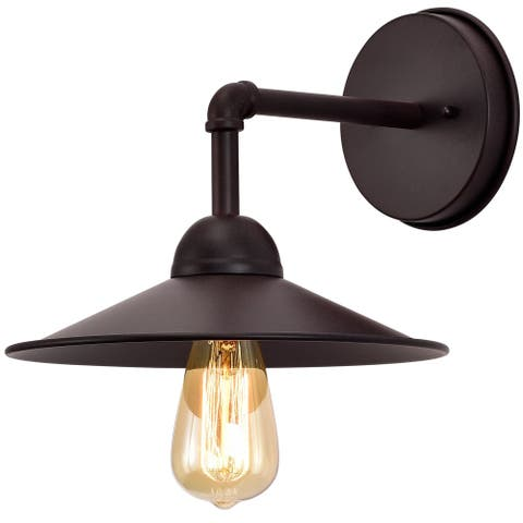 Rusty Finish Metal 1 Light Outdoor Barn Light 10.25 inches Width