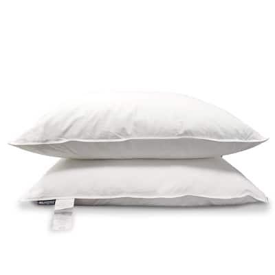 KASENTEX Egpytian Cotton, Down Pillow Pair, Set of 2 - White